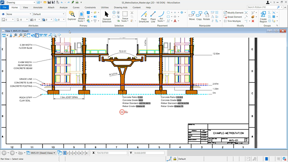 2D CAD drawings in MicroStation