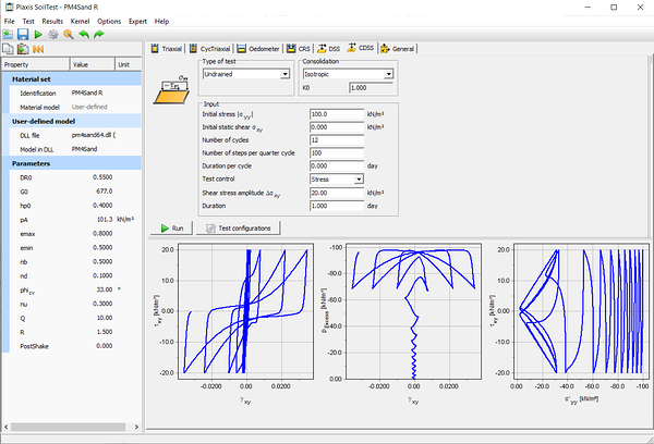 PLAXIS blog Undrained cyclic DSS test simulation with PM4Sand model using the PLAXIS SoilTest facility