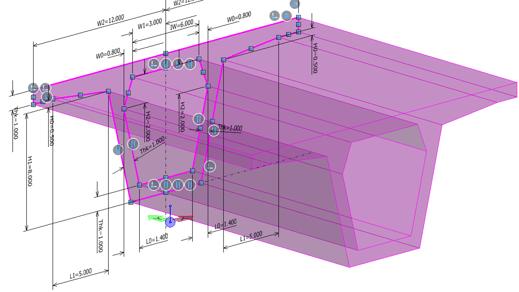 Girder in a 3D CAD Model in MicroStation